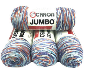 Caron-Jumbo-Yarn-16004-Floral-Ombre-Lot-Of-4-Skeins-12-Oz-Each-100-Acrylic