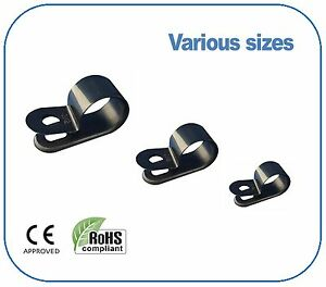 Black-Nylon-Plastic-P-Clips-Fixing-for-Cable-Conduit-Tubing-Sleeving