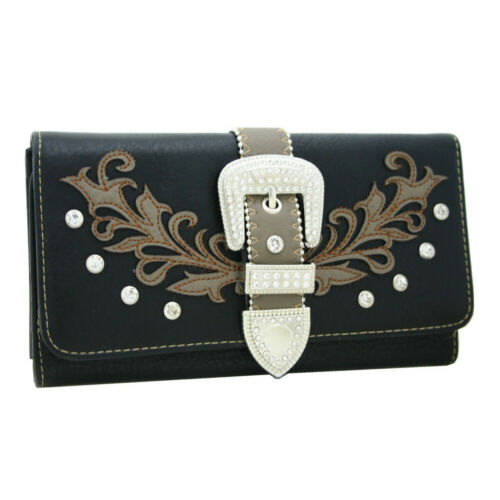 Western Camouflage Wallet Floral Buckle Purse Handbag