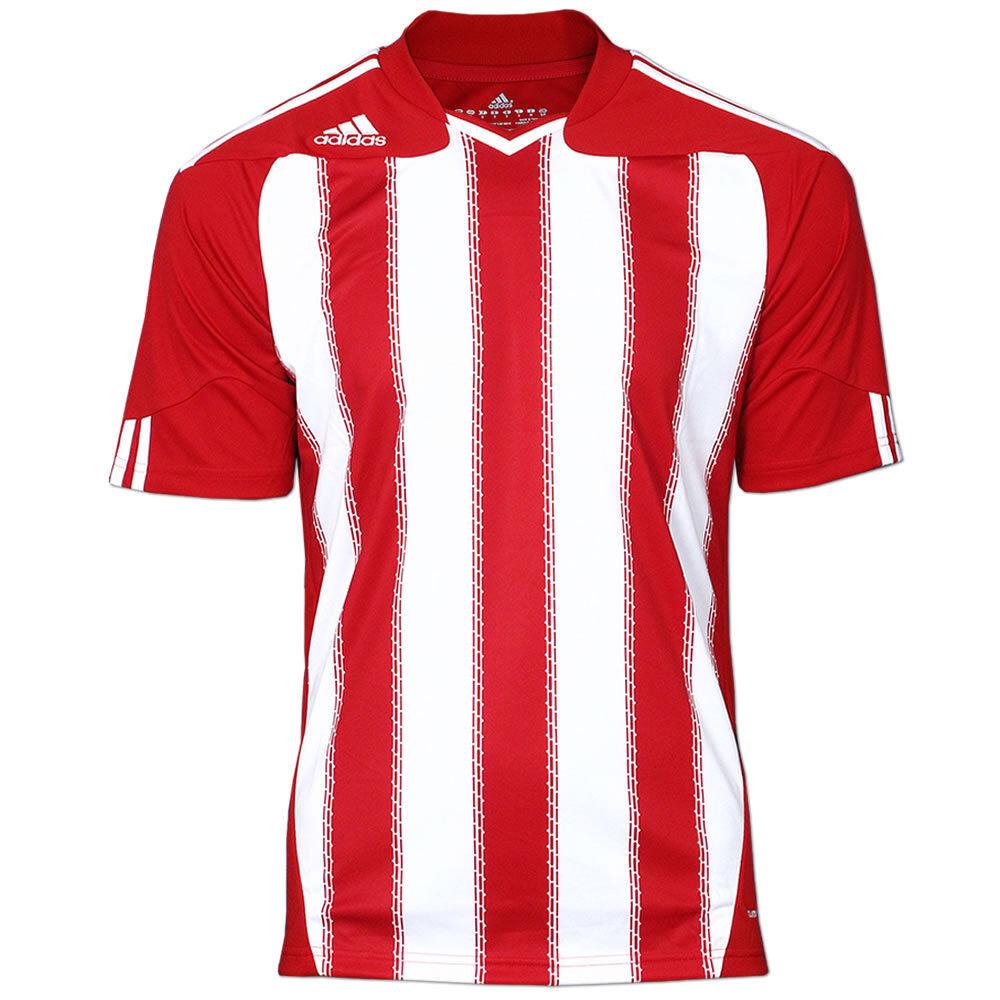 ADIDAS Fußball Trikot ClimaCool Stricon Jersey Kurzarm Teamwear Shirt rot-weiß  | Ermäßigung