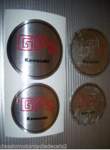 KAWASAKI GPZ GPZ750 TURBO GPZ 1100A GPZ750A  ENGINE COVER DECALS EMBLEMS
