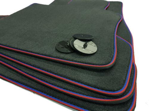 Alfombras tapices para bmw 1er e88 cabrio calidad gamuza auto alfombras cenefa//4 velcro