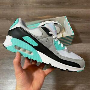 Nike-Air-Max-90-Branco-Cinza-Preto-Azul-Treinadores-UK10-US11-EUR45-CD0881-100