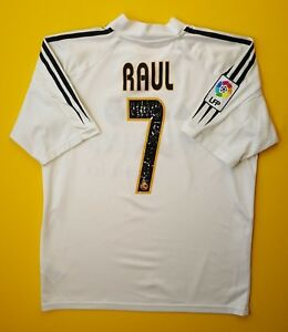 a9f4b9e07 4 5 Raul Real Madrid jersey small 2004 2005 home shirt size 34   36 ...