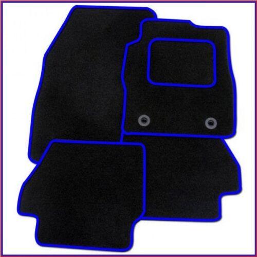 BLUE TRIM 12 on 3 x clips Tailored Car Mats HYUNDAI I30