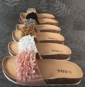 Pg70 Sandalen Blumen Neu Sandaletten Zu Damen Pantoletten Slipper Komfort Details 0OnPk8w