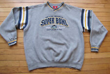 Super Bowl XXXVII 2003 Raiders Buccaneers NFL Gray XL Embroidered Sweatshirt
