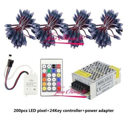 5V WS2811 LED pixel Module RGB Addressable power Supply 24key Controller