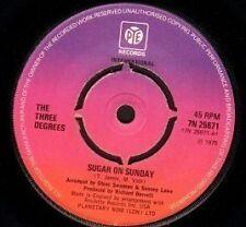 "THE THREE DEGREES sugar on sunday/maybe 7N 25671 uk pye 1975 7"" WS EX/"