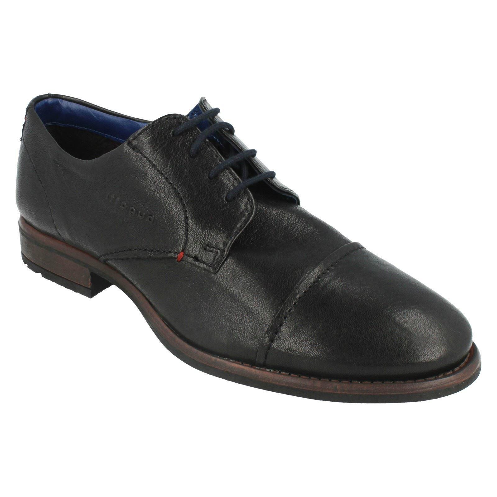 Zapatos De Cuero Bugatti 313-22302-4000 para hombres Inteligente Formal Con Cordones Puntera Oficina