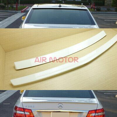 Painted 650 White AMG Style Trunk Spoiler Lip For W212 E250 E350 E550 E63 Sedan