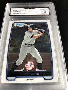 2012-Bowman-Chrome-Prospects-BCP98-Greg-Bird-Rc-Graded-10