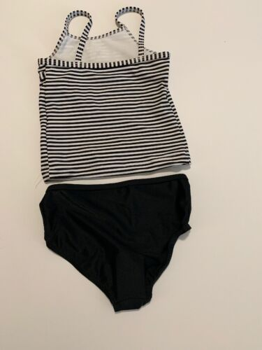 Carters Baby Girl 2 Piece Tankini Swimsuit Size 18 24 Months 2T 3T Black Stripe