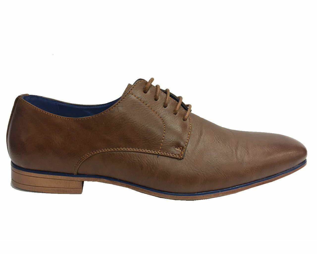 Mens Fashion A116 Faux Leather shoes Formal Smart Dress shoes Brown