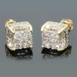 Fashion-18K-Gold-Silver-Square-Cube-AAA-Zircon-Stud-Earrings-Women-Jewelry-Gifts