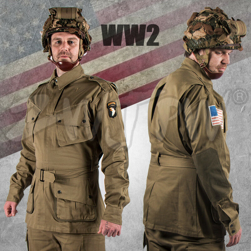 WW2 US PARATROOPER ARMY M42 Airborne M42 Uniform Solider COMBAT Jumpsuit Army