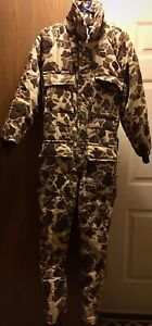 Vtg-USA-WALLS-Blizzard-Pruf-Duck-Camo-Insulated-Hunting-Coveralls-Mens-Med-Reg