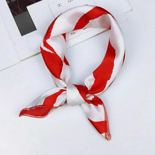 1PC Women Square Long Silk Feeling Satin Scarf Small Head-Neck Hair Tie Hairband