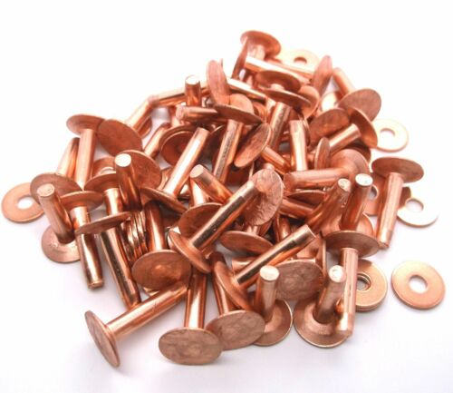 """Size 12 3//4/"""" Copper Rivets /& Burrs 75 Pk 11281-01 by Tandy Leather"""