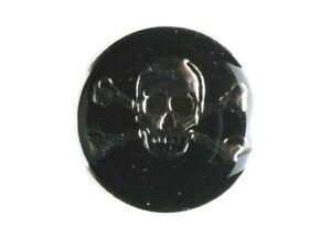 Dill-Knopf-Metallknopf-Totenkopf-Skull-emailliert-schwarz-silber-25-mm-DK-010