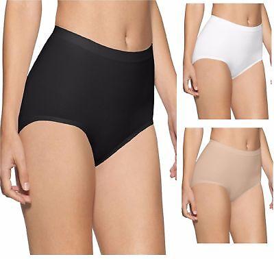 STV Womens Seamless High Waist Control Brief Slimming Shapewear Black White Colo