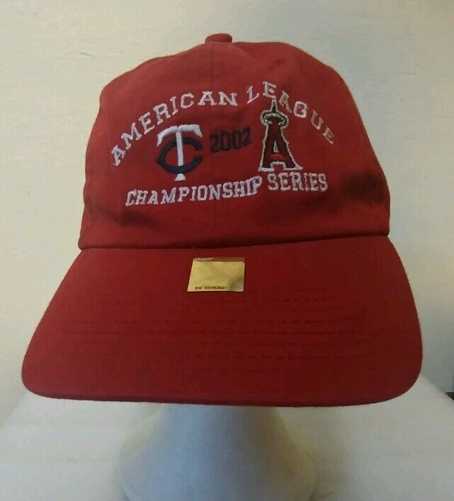 Old School hat champs 2002 am american league champs hat twins and angels mlb hipster y 72265c