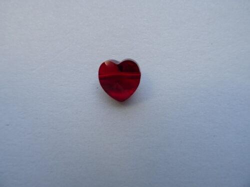 5742 FARBWAHL 2 Swarovski® Kristall Perlen HEART BEAD Fädelherz 10mm Art