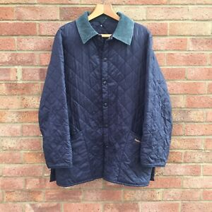 Men's Liddesdale Good Navy Vintage Quilted Barbour Large Jacket Condition Zwdgqzfg