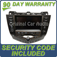 06 07 HONDA Accord GPS Navigation System 6 Disc Changer CD Player Display Screen