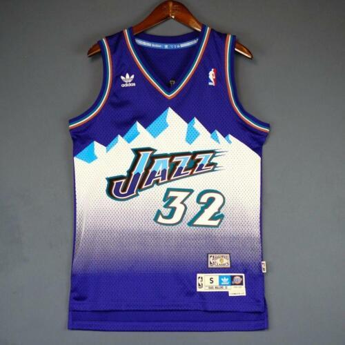 KARL MALONE Jersey NBA Utah Jazz 32 Violet Swingman Authentique Edition