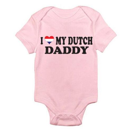 Costume père I love my daddy néerlandais-DAD holland Nouveauté thème baby grow