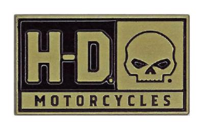 Harley Davidson® H-d Skull Die Cast Gold/bronze Pin Badge P043262 New Genuine Stevige Constructie