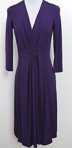 ETCETERA-PURPLE-LONG-STRETCH-JERSEY-WRAP-DRESS-sizes-0-2-4-6-8-NEW-325