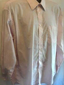 Nicole-Miller-New-York-Mens-Dress-Shirt-Sz-17-XL-Pink-Long-Sleeve-Button-Up