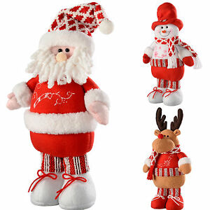 image is loading free standing christmas santa snowman reindeer christmas decoration