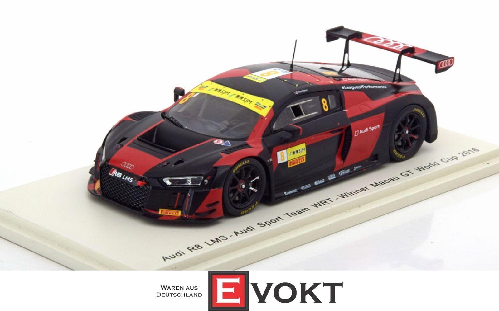 Audi  R8 LMS WRT winner macau gt coupe du monde 2016 Laurens Vanthoor, SPARK 1 43  plus d'ordre
