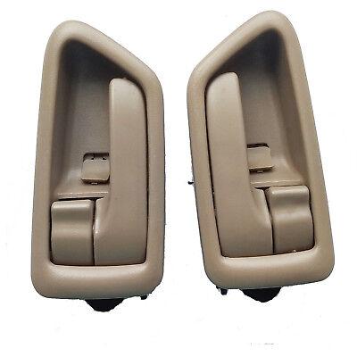 Fit 02-06 Toyota Camry Inside Interior Left Right Side Door Handle Beige 1Set