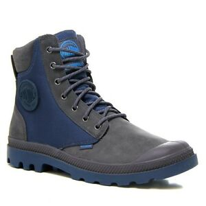 Détails : Men's Palladium Boots WaterProof Pampa Sport Cuff WPN Rabbit Dark Denim