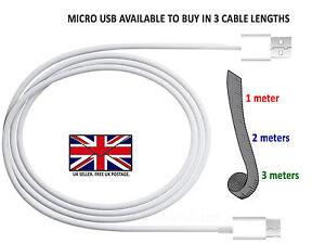 Complexé Long 1 M 2 M 3 M Micro Usb Rapide Données Chargeur Câble D'alimentation-micromax Bharat 5 Infinity-afficher Le Titre D'origine