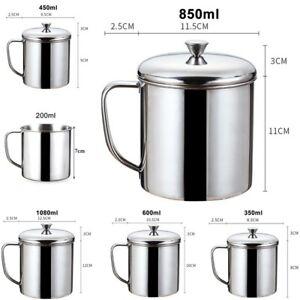 Té Vaso Bebidas Metal Camping Taza de Café Portable-Cup Acero Inoxidable