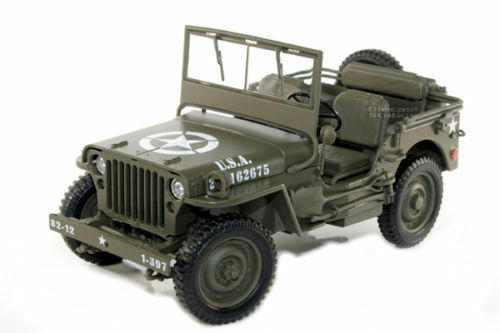 1 18 Welly Willys Jeep US Army 1 4 TON 1942-1945 Vert Olive