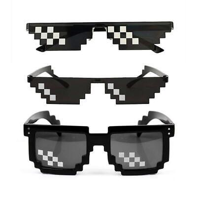 Confezione Da 3 [] Set Di Thug Life Pixel Cpu 8 Bit Square Pixel Novità Occhiali Da Sole-mostra Il Titolo Originale Vari Stili