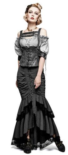 Top haut corset gothique punk lolita steampunk vintage sangles laçage Punkrave N