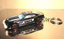 2016 Hot Wheels Chevy Camaro SS Police Trooper Cruiser Custom Key Chain Ring!