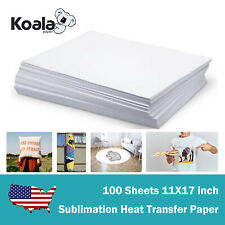 Koala Sublimation Paper 11x17 For Inkjet Heat Transfer Blank Mug Plate T Shirt