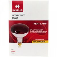 12- Red 250 Watt Heat Lamp Bulbs Weatherproof Good for Baby Chicks & Reptiles