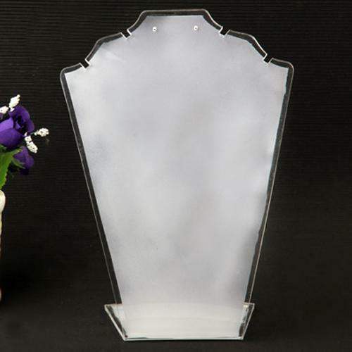 """Necklace Pendant Jewelry White Acrylic Display Stand Showcase Holder 7.5x5.7"""""""