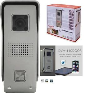 monacor wlan video t rklingel kamera dva 110door wifi video door phone android ebay. Black Bedroom Furniture Sets. Home Design Ideas