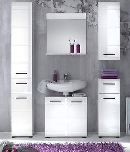 Badm bel komplett set skin in wei hochglanz badezimmer for Komplett badmobel set