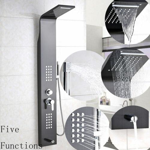 Shower Panel Column Tower Rainfall Waterfall Bathroom Tap Massage Body Jets UK